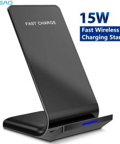 15W Qi Wireless Charger Stand For iPhones & Samsung