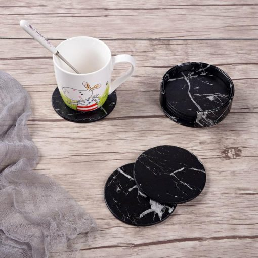 6pcs Home Decor Marble Drink Coasters