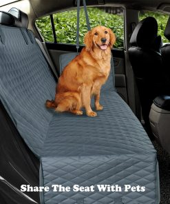 Dog Car Seat Cover Hammock Cushion Protector With Zipper And Pockets