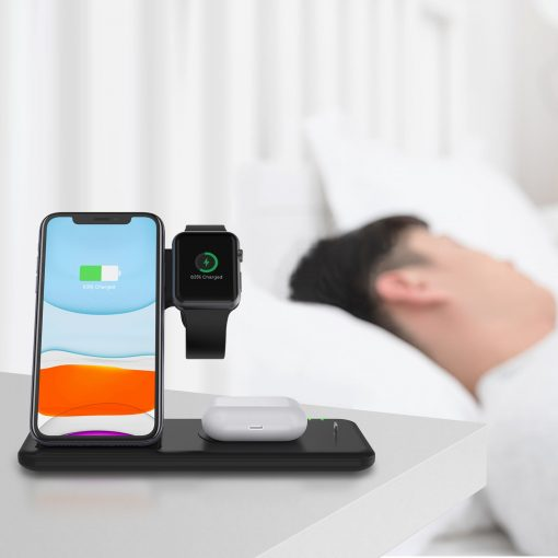 4 IN 1 Wireless Charger Stand For iPhone Apple Watch & Airpods