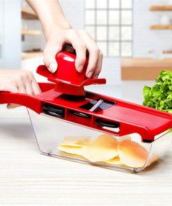 Mandoline Slicer Vegetable Cutter with Stainless Steel Blade