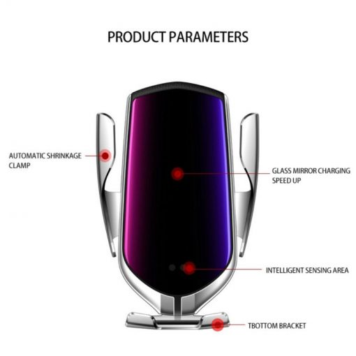 Automatic Clamping 10W Qi Wireless Car Charger Holder