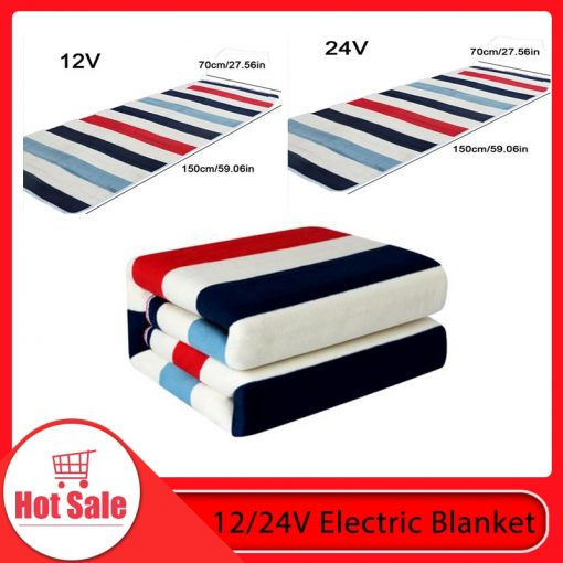 High Quality 12V/24V Heated Travel Blanket For Truck/RV