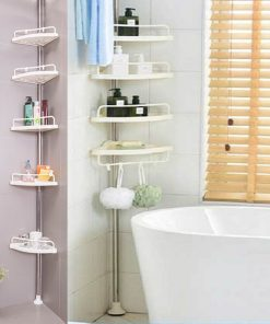 Tension Pole Shower Caddy, Bathroom Corner Storage Caddy