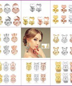 Earring Backs Lifters Multi-Shape {6pcs/3pair-925 sterling silver}