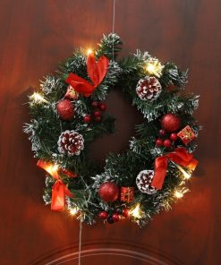 LED Christmas Wreath Home Decoration
