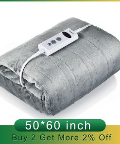 110V Machine Washable Comfy Electric Heated Blanket