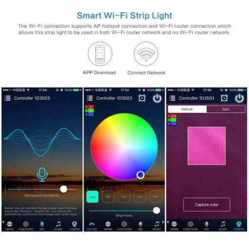WiFi Smart LED Strip Light Waterproof RGB 5050