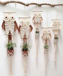 OWL Macrame Plant Hanger