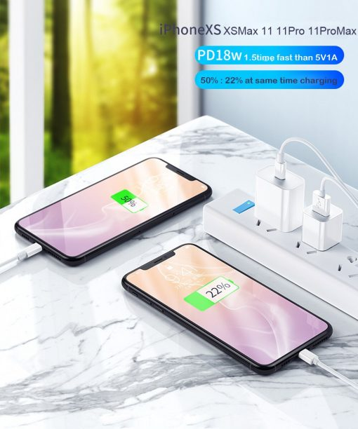 18W PD Fast Charging Type-C Wall Charger For iPhone 12