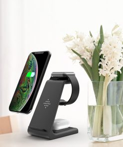 10W Fast Charge 3 In 1 Wireless Charger For Iphones, Apple Watch & Airpods