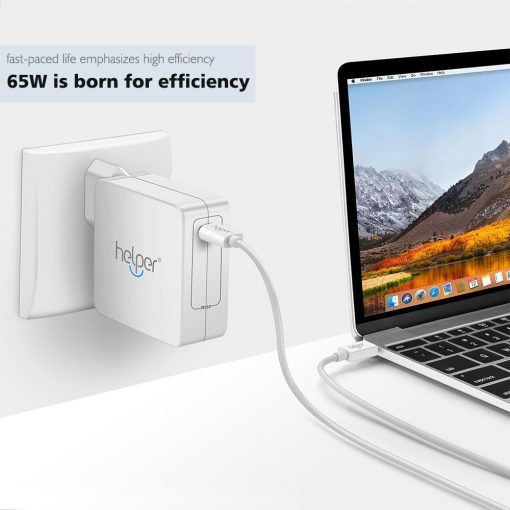 USB Type C 65W PD Wall Charger Power Adapter for Macbooks & Laptops, iPads, iPhone 12