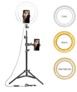 10″ LED Ring Light with Stand for Photography Selfie Smartphone Makeup Video Studio