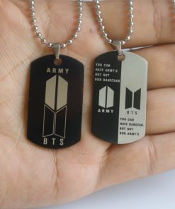 BTS-651 Stainless Steel Letter ARMY Pendant Necklace 2020