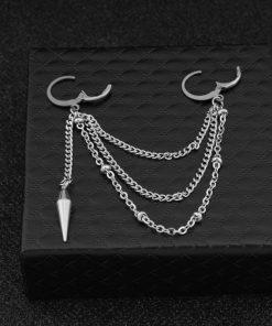 Geometric Stainless Steel Men & Women Pendant Earrings