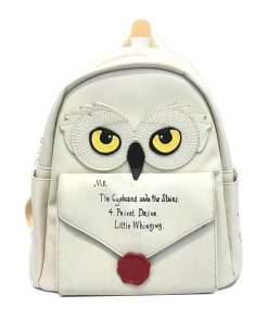 Magic School Hedwig Owl Backpack Gift for Childrens (8inch) & Wallet
