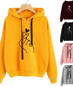 Womens Musical Notes Long Sleeve Hoodie Pullover
