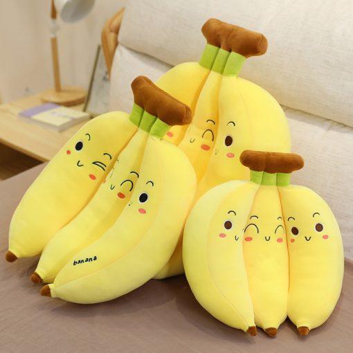 Funny Fluffy Banana Plush Pillows