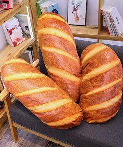 3D Simulation Bread Shape Pillow Soft Lumbar Back Cushion 3