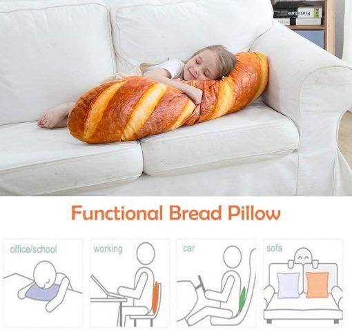 3D Simulation Bread Shape Pillow Soft Lumbar Back Cushion 4