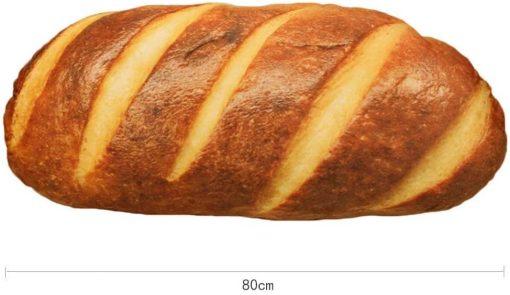 3D Simulation Bread Shape Plush Pillow