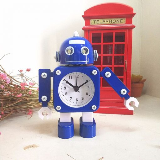Creative Robot Analog Alarm Clock (4 colors)