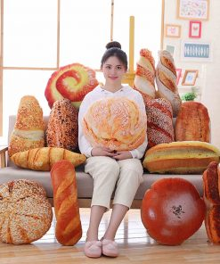 Creative Funny Food Pillow Plush Shape Bread Burger Baguette