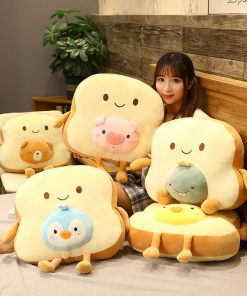 Funny Sliced Bread Plush With Blanket Inside