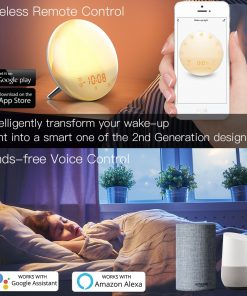 Sunrise WiFi Smart Wake Up Light Alarm Clock with 7 Colors Alexa Google Home Support