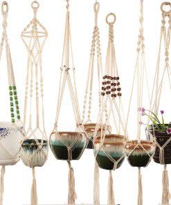 Handmade macrame plant hanger flower pot hanger for wall decoration