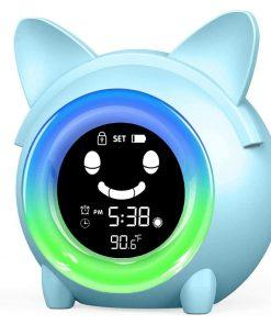 Kids Child Alarm Clock Sleep Trainer with Night Light
