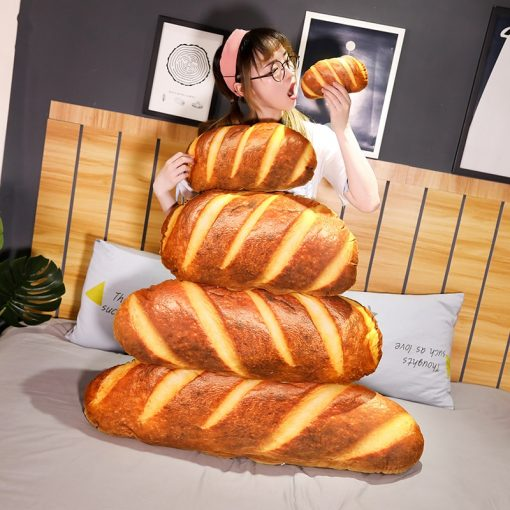Long Bread Baguette Pillow