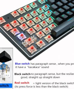 Anti-ghosting Mechanical Keyboard Wired Gaming Keyboard RGB Mix Backlit