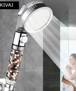 3-Function High Pressure Anion Filter Bath shower Head with on/off Button