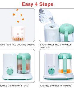 4 functions all in one baby food processor steamer blender cooker food maker