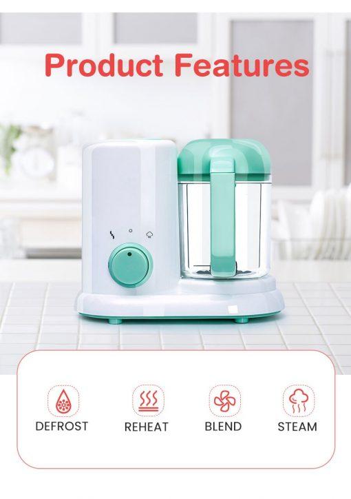 4in1 Baby Food Maker Cooking BlenderSteamer & Processor