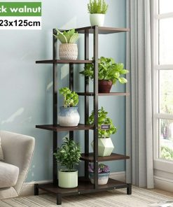 5 Tiers Indoor Wooden Iron Plant Stand Rack Display Shelf