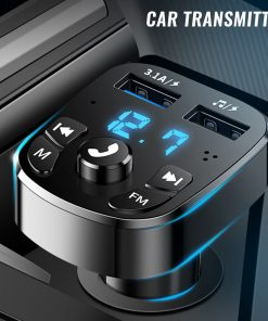 Bluetooth FM Transmitter Car Player & USB Charger