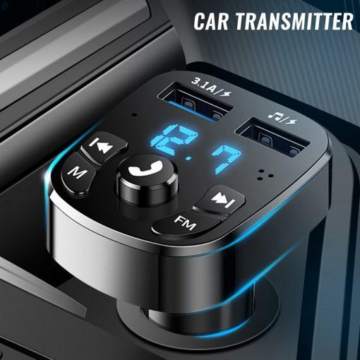 Bluetooth FM Transmitter Car Player & USB Charger