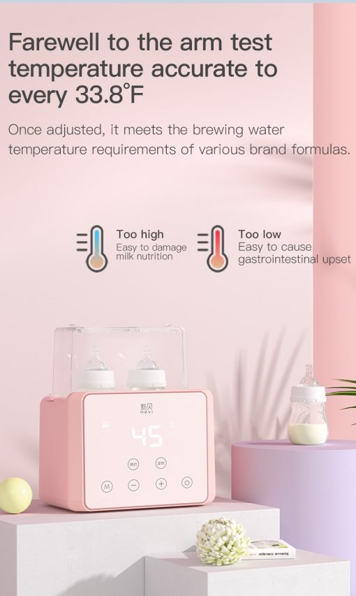 All in 1 Baby Bottle Warmer, Sterilizer , Sanitizer Food warmer with Temperature Control LCD display