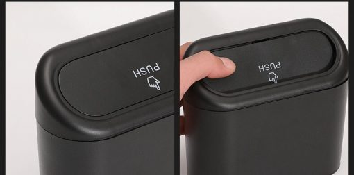 Car Trash Bin with Lid Hanging Vehicle Garbage Dust Case