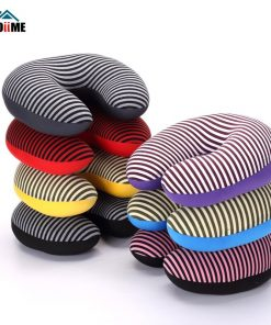 Microbead Neck Pillow Stripe Printing Travel U Shaped Neck Pillow