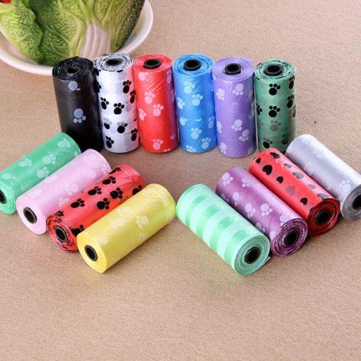 Colorful Printed Quality Dog Poop Bags (10Rolls/150pcs)