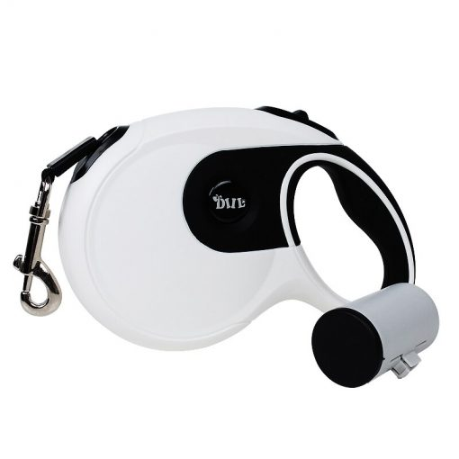 Durable Automatic Retractable Lead for Large Dogs with Poop Bag Holder