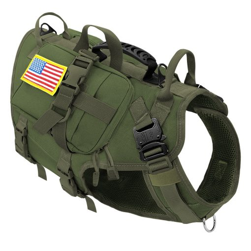 Tactical Military Strong Dog Harness for No Pull with Pouches