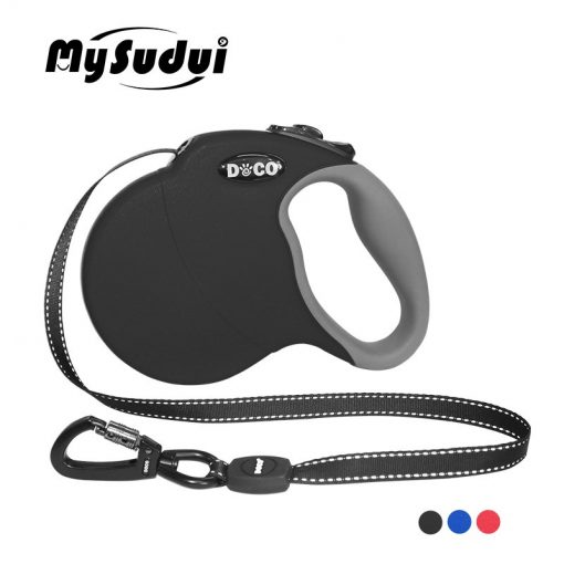 Grippy Automatic Retractable Reflective Nylon Dog Leads