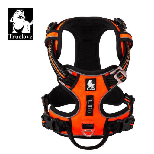 Pro-Grip Breathable Reflective Nylon Dog Harness for No Pull