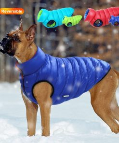 Reversible Premium Multi-Colored Winter Jacket For Dogs